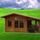 Casa de lemn Diana 4x4m + terasa 2x4m
